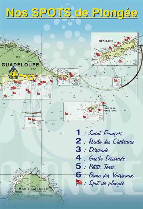 Spots de plongée en Guadeloupe Noa plongée