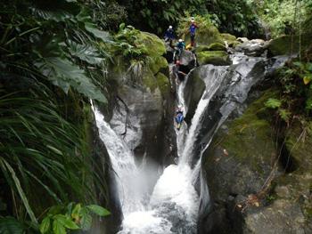 Vert intense canyoning Guadeloupe